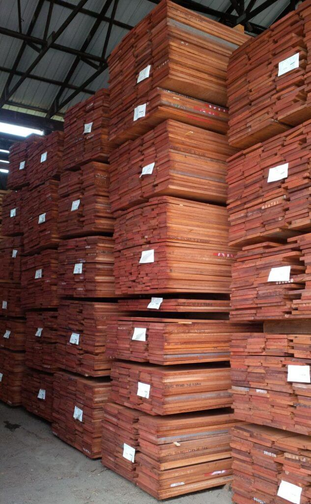 Sapele Lumber Stacks